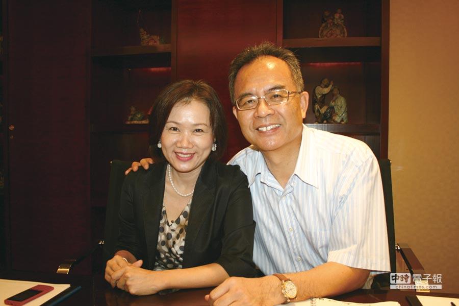鈺齊-KY董事長林文智(右)及鈺齊總經理廖芳祝(左)。圖/劉朱松