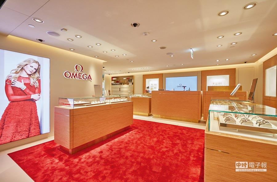 歐米茄遷店至SOGO百貨復興店,業績在人潮集中下大成長。圖/歐米茄提供