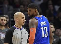 NBA》喬治怒罵裁判有夠爛 78萬飛了!
