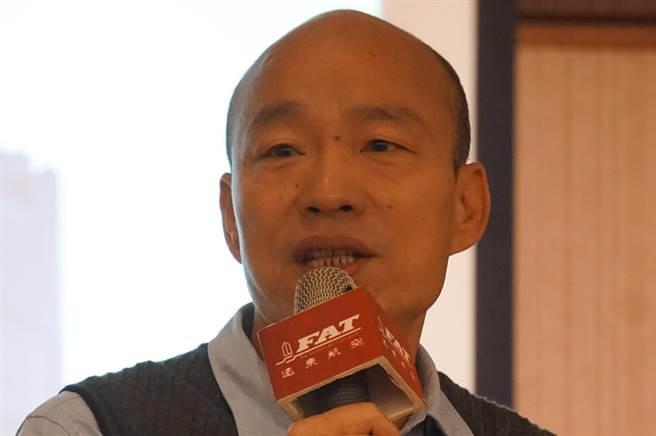 高雄市長韓國瑜今天還原「瑪麗亞事件」,澄清絕對沒有嘲諷之意。(柯宗緯攝)