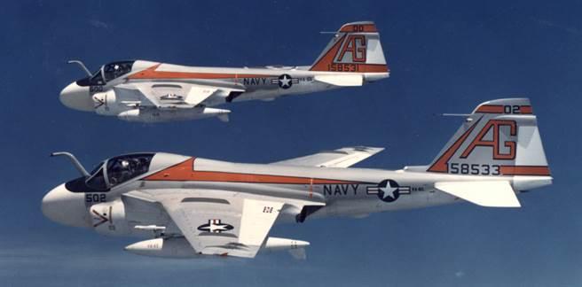 A-6A 是A-6家族的第一位成員,活躍於越戰。(圖/美國海軍)