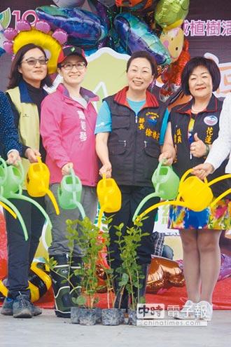 植樹月開跑 花蓮人栽3000樹苗