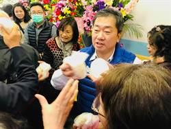 基市黨部主委黃希賢宣布選立委 發包子沾韓流