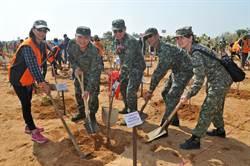金門軍民攜手種樹  海岸雷區變林區