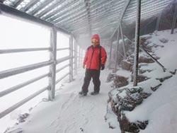 玉山2波春雪 積雪3.5公分