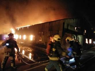 影》烈焰沖天 竹北工廠大火1男50%燒傷送醫