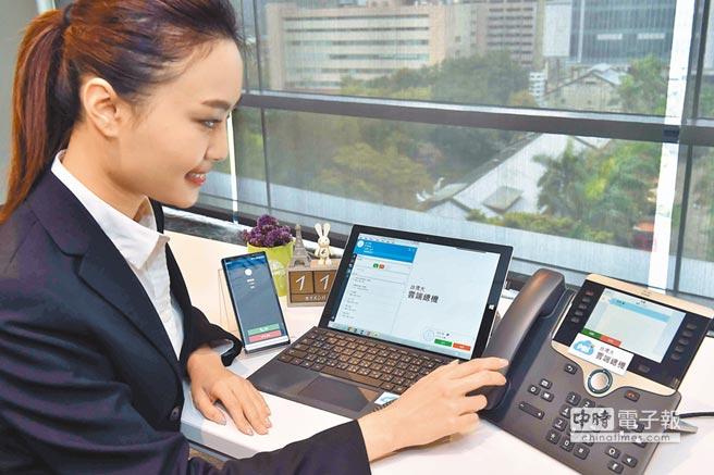 透過「台灣大雲端總機」,來電時無論是手機、IP Phone桌機,還是筆電都會同步響起,不漏掉任何重要來電。(台灣大提供)