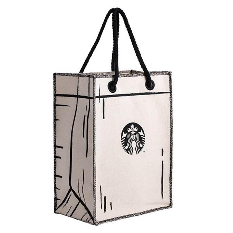 星巴克21周年紀念商品,經典小禮提袋。(圖/星巴克)