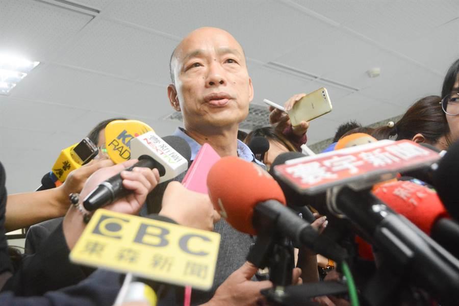 高雄市長韓國瑜表示,最近有太多對高市府酸言酸語,好像很多人不喜歡高雄成功,讓他覺得非常訝異。(林宏聰攝)