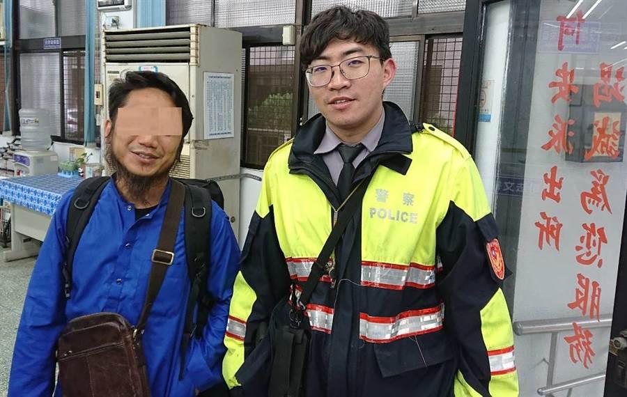 來自馬來西亞的「台灣女婿」,經員警開導後解開心房,順利與妻子重逢,繼續在台灣「回娘家」的行程。(盧金足翻攝)