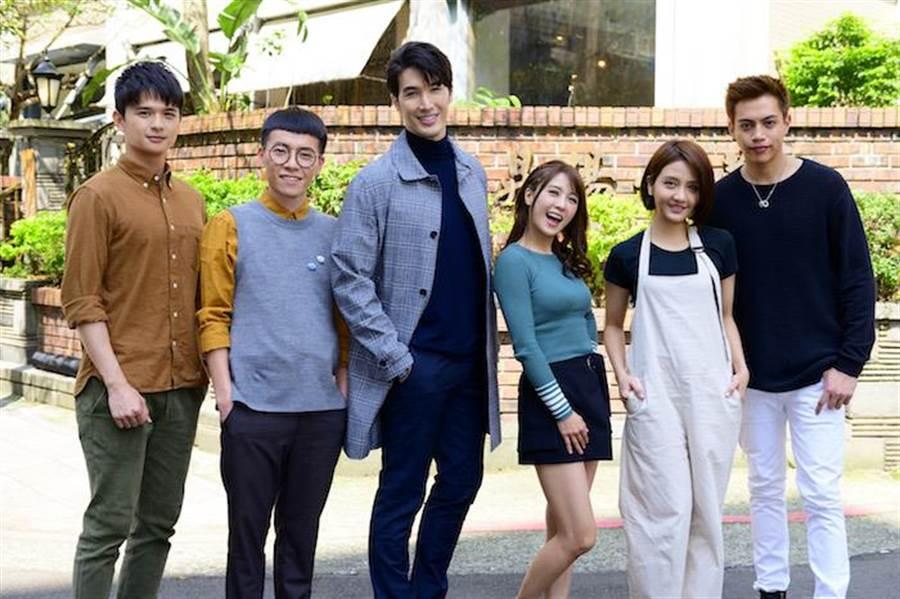 尹彥凱(左起)、游小白、錦榮、大元、李宣榕、鲶魚哥。。(TVBS提供)