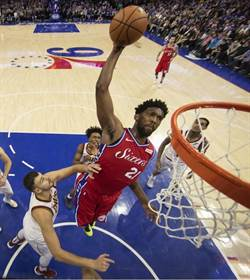NBA》恩比德驚天火鍋暴力扣籃 七六人2連勝