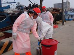 陆渔船越界捕鱼 澎海巡队开枪登船查获猪肉销毁