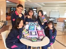 二信夢幻5人組 英語創意卡片奪全國第1