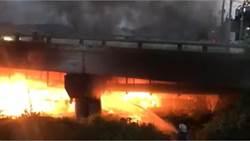 頭份東興大橋下方傳火警 濃煙竄天一遊民傷