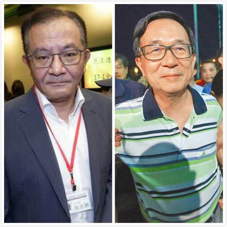 民进党前立委高志鹏(左)、前总统陈水扁(右)。(合成图/中时资料照)