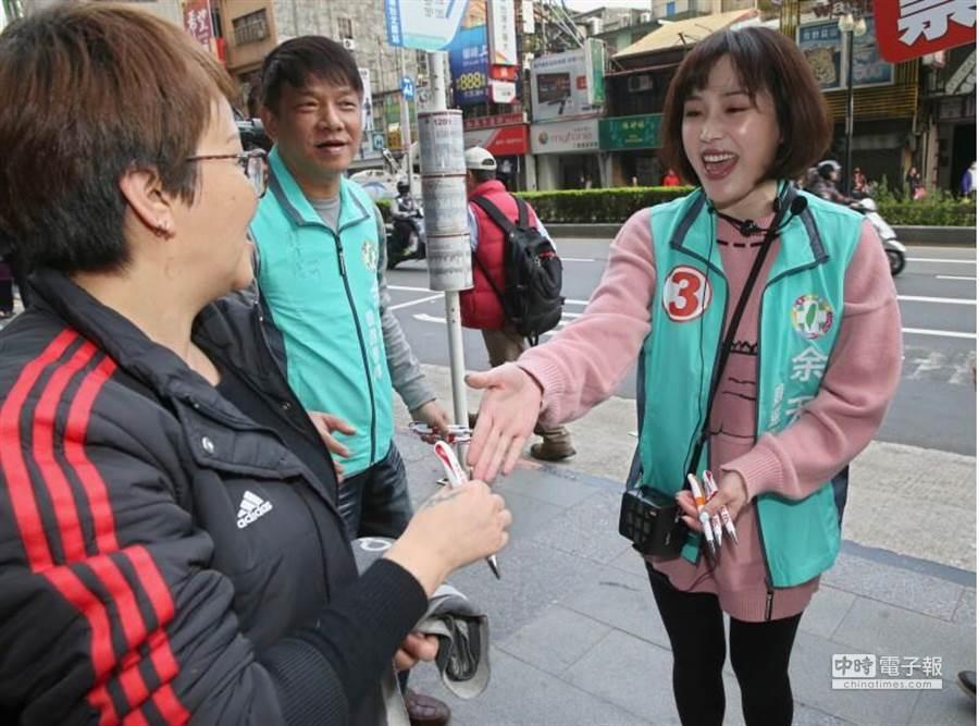 余筱萍認為她的活潑更勝韓冰。(圖/記者陳君瑋攝)