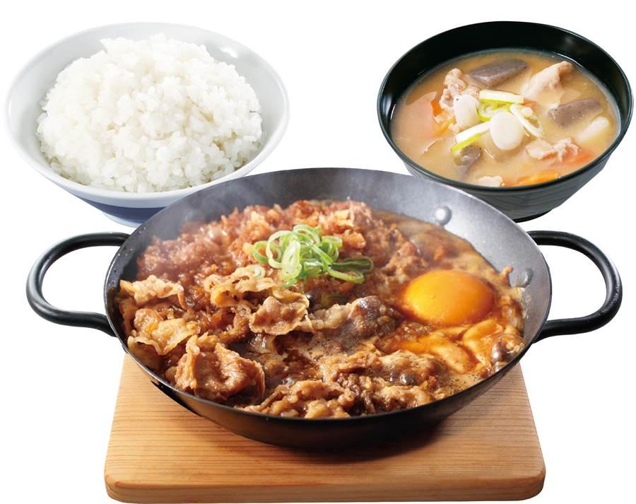 壽喜牛雞排鍋定食。(圖/品牌提供)