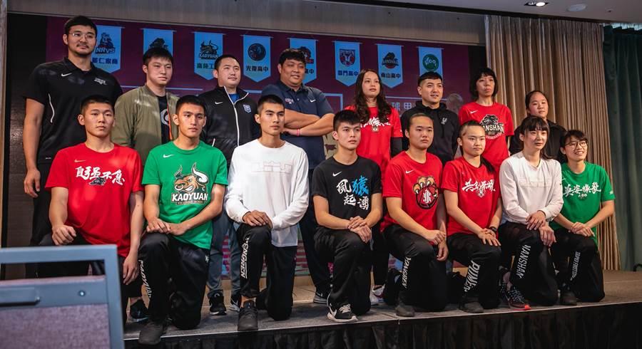HBL男女四強教練及代表球員。(高中體總提供)