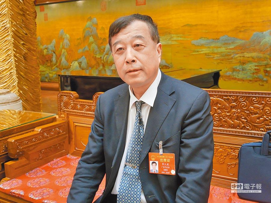 北京大學台灣研究院院長李義虎。(記者陳君碩攝)