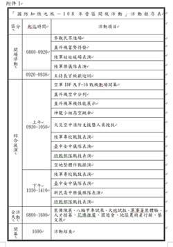 國防知性之旅 3月30日陸軍龍翔營區開放活動