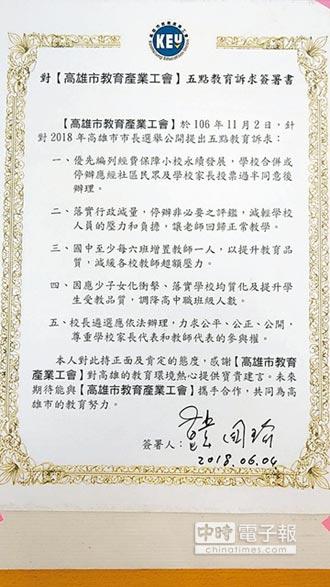 教團批韓國瑜 行政減量跳票