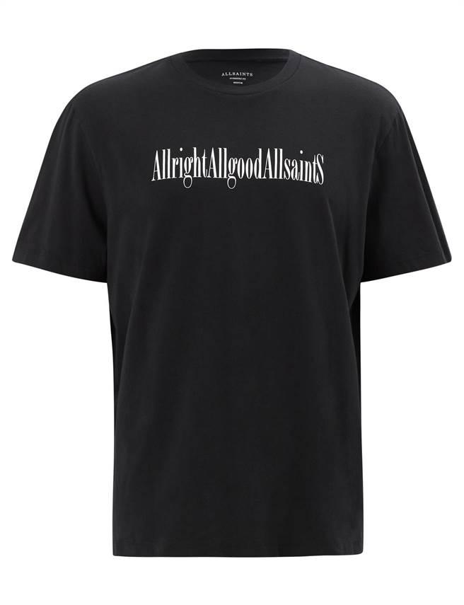 AllSaints Allgood黑色文字上衣,1800元。(品牌提供)