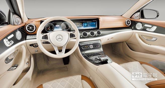 Mercedes-Benz E-Class曾獲得Automotive Interiors Expo Awards最佳內裝設計獎。(Daimler AG提供)