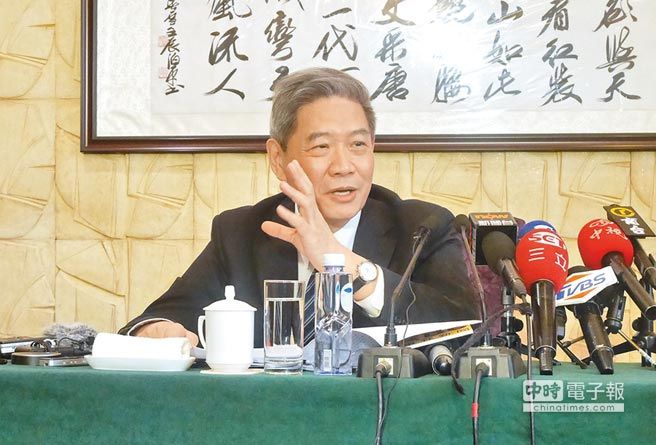 大陸海協會長張志軍13日在兩會新聞中心開闢專場,回應台港媒體的提問。(記者陳君碩攝)