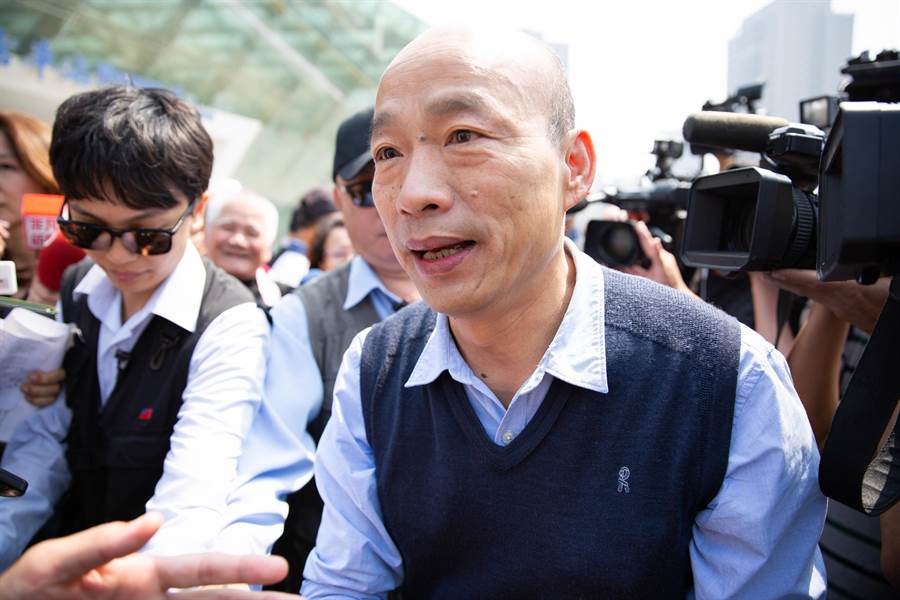 高雄市長韓國瑜希望訪美之旅一切從簡。(袁庭堯攝)
