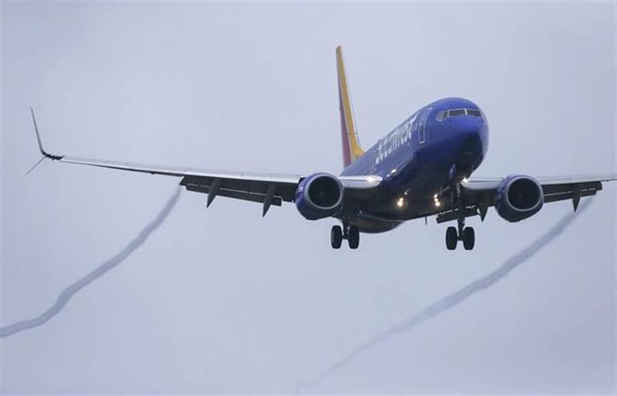 圖為西南航空的波音737 MAX 8客機。(美聯社)