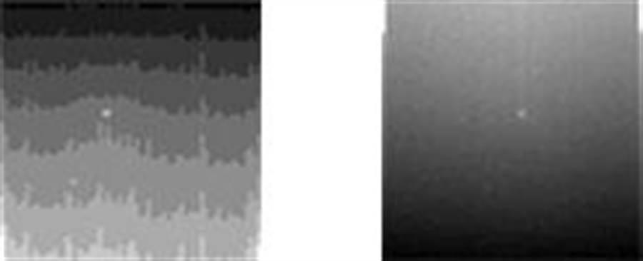 去年6月沙塵暴席捲火星,這是機會號拍到的畫面,天空一片灰黑,中間淡色一點是太陽。(圖/NASA)