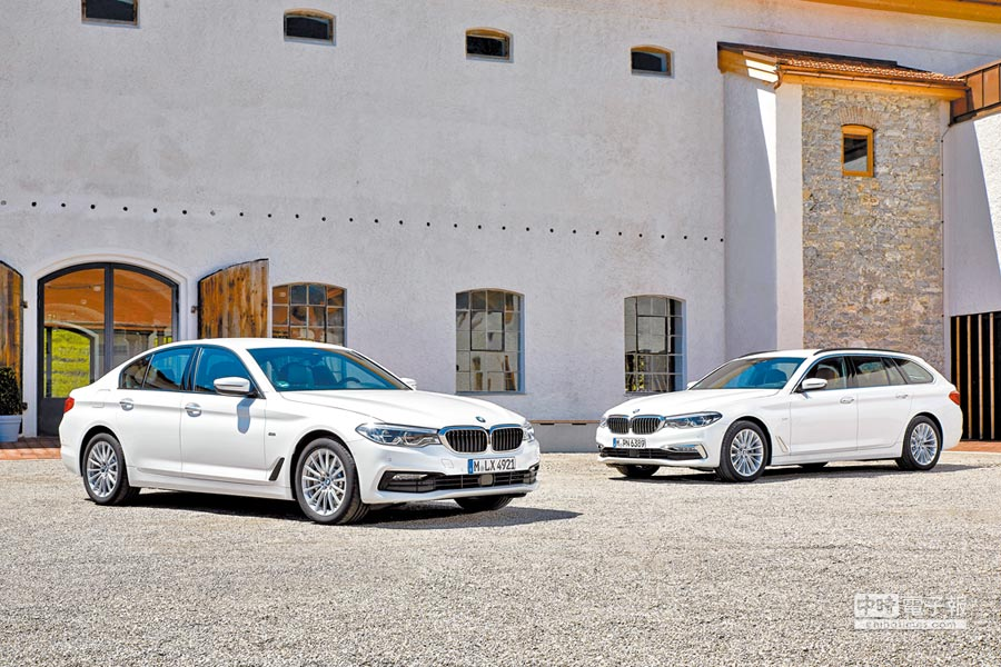 BMW 5系列提供房車與五門掀背車等不同選擇,前者以自駕為主,後者提供更多承載彈性。(BMW提供)