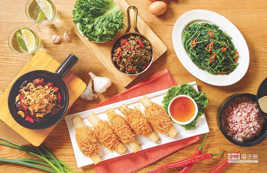 微風南山6F「時時香」春遊2人餐,1430元。(微風提供)