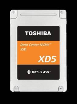 東芝記憶體針對雲端數據中心擴展其NVMe SSD產品組合 新推出高能效XD5系列 提供2.5英寸外型規格並支援最高3.84TB的容量選項
