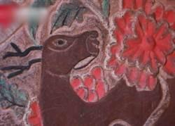 明代夫妻古墓出土 壁画刻绘精美色彩如新