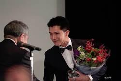 邱澤榮登「亞洲之星」 穿BOSS風靡亞洲電影節