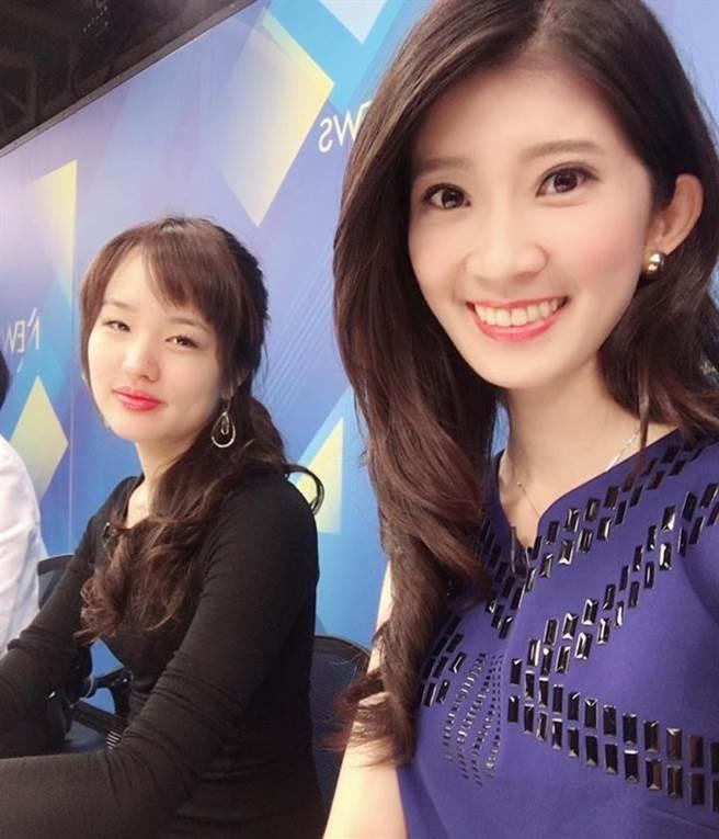 韓國瑜大女兒韓冰(左)、最美北漂女主持人李明璇(右)。(圖/取自李明璇臉書)
