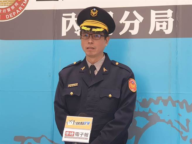 內湖副分局長郭大恆「加強防治聚眾鬥毆」行為,不容許鬥毆行為發生。(照片/游定剛 拍攝)