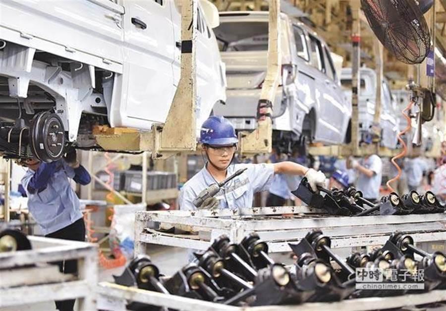 大陸經濟遇到向下修正的壓力。(新華社)