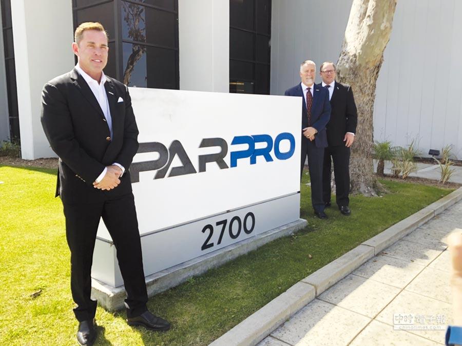 事欣科海外CEO Thomas Sparrvik(左起)、PARPRO Technologies全球行銷副總Ken Haney、PARPRO Technologies總裁Keith Knight。圖/陳昱光