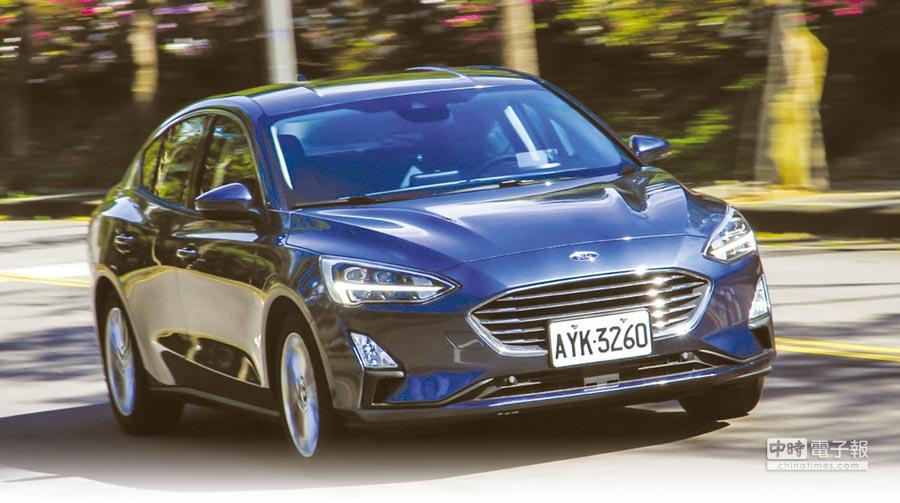 All-New Focus的車身尺碼相比上代車型大上許多,同時,不同於上代車型較偏向運動感的外型設計,全新Focus MK4整體看去更加的穩重。圖/陳慶琪