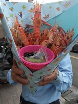 情人節送啥?他特製「蝦花束」網狂讚但少做這事