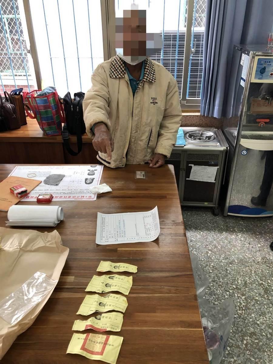 台南市8旬蘇姓老翁因撕毀選票,被警方依違反選罷法函送法辦。(李其樺翻攝)