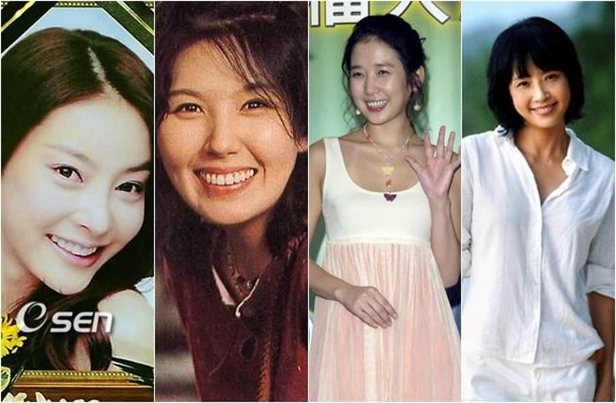 網友發現自殺過世的張紫妍、李恩宙、鄭多彬、崔真實都是同門女星。(圖/取自《OSEN》韓網;中時資料照片)