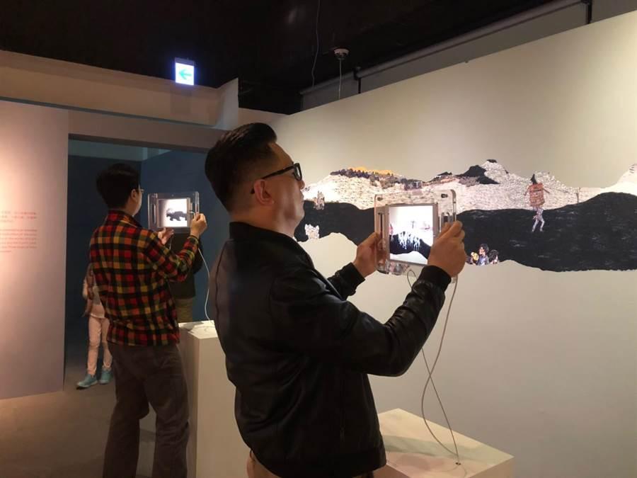 府中15新北市動畫故事館邀請創作者國立台北藝術大學新媒體藝術學系副教授戴嘉明策劃展覽《後遶境—戴嘉明新媒體創作個展》。(葉書宏翻攝)