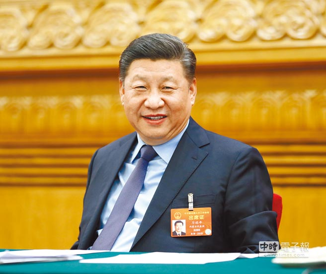 3月10日,中共中央總書記習近平參加十三屆全國人大二次會議福建代表團的審議。(新華社)