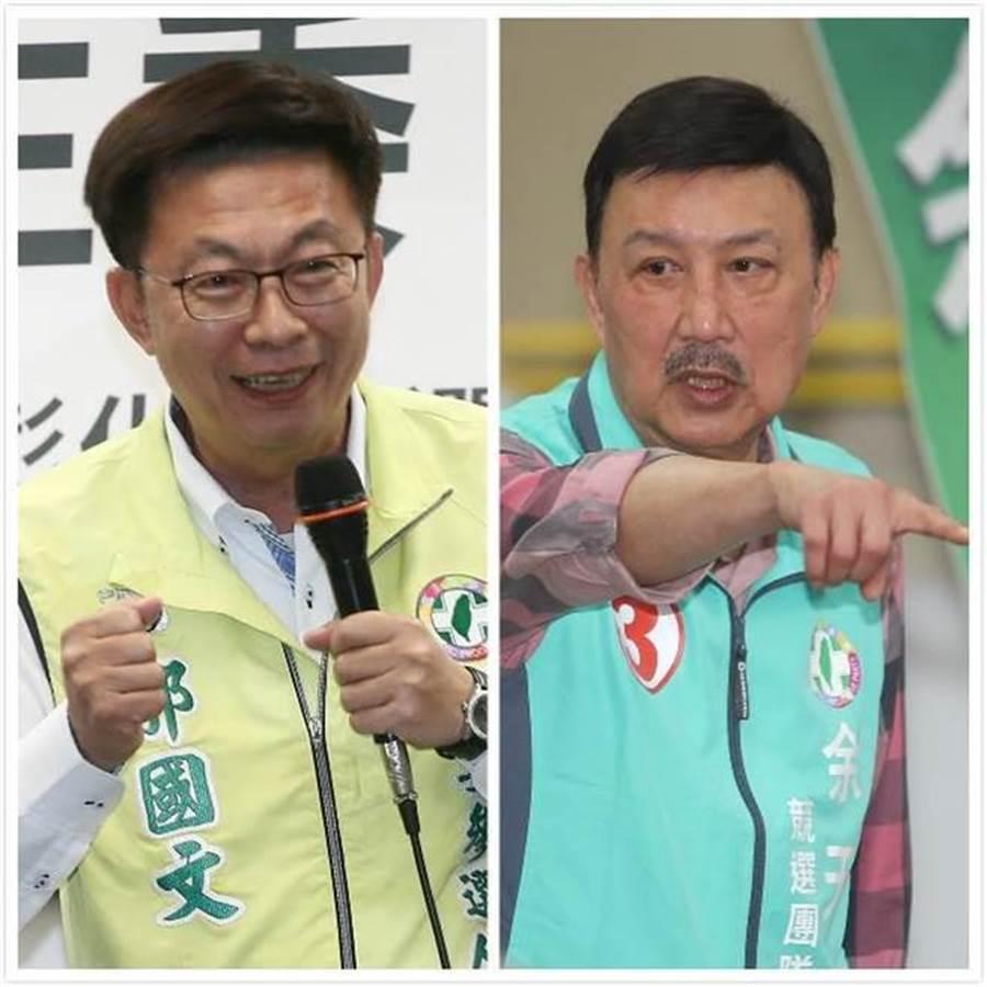 立委补选结果出炉,民进党台南市候选人郭国文(左)、新北市候选人余天获胜(右)。(合成图/中时资料照)