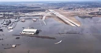 美國中部大洪水 空軍指揮部60座建物淹水受損