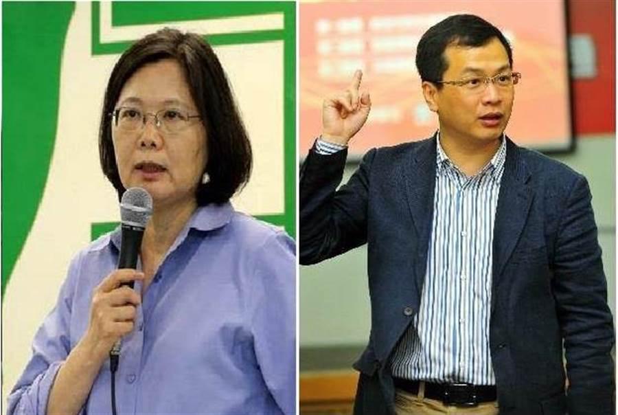 總統 蔡英文(左)、總統府副秘書長羅智強(右)。(圖/合成圖,本報資料照)